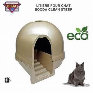 Litiere Chat Fermée : caisse liti re pour chat booda clean steep ~ Melissatoandfro.com Idées de Décoration
