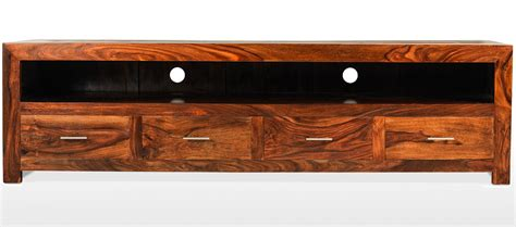 Long Console Cabinet by Cube Sheesham Long Plasma Tv Cabinet Quercus Living