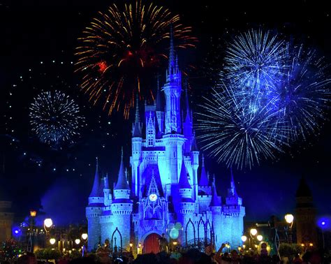 cinderella castle fireworks photograph by andrew