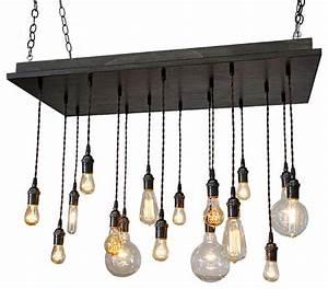 Rustic industrial dining room chandelier