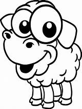 Coloring Cartoon Farm Baby Sheep Animal Pages Wecoloringpage Cow sketch template