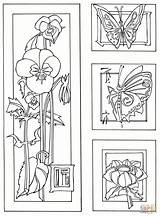 Coloring Pages Flowers Butterflies Bamboo Printable Plant Template Pdf Coloringhome Drawing sketch template