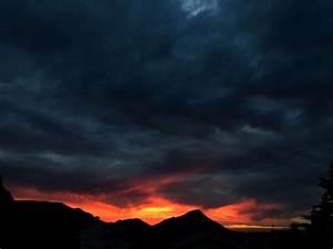 Cauldron, Cloud, Dark, Clouds, Dark, Sky, Evening, Landscape, Nature, Ocean, Orange, Red, Sea, Sky