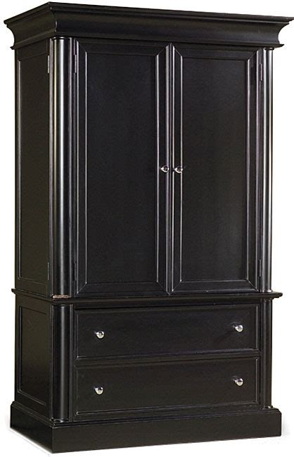 Armoire Black by Leann Black Armoire 80001231 Overstock Shopping
