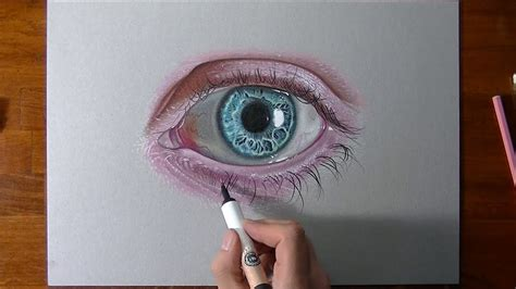 drawing  coloring  crazy realistic eye youtube