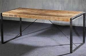 Table A Manger Industrielle : table de salle a manger style industriel ~ Teatrodelosmanantiales.com Idées de Décoration