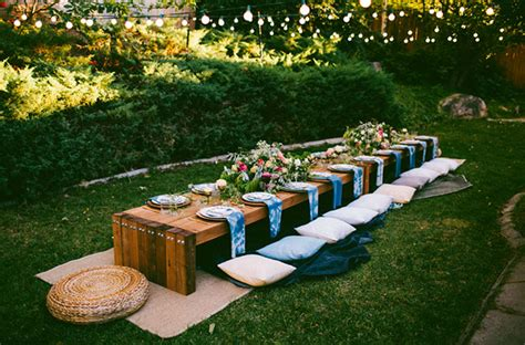Backyard Dinner by 10 Tips To Throw A Boho Chic Outdoor Dinner Green
