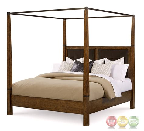 king canopy bed echo park birch california king canopy bed with stipple stained finish