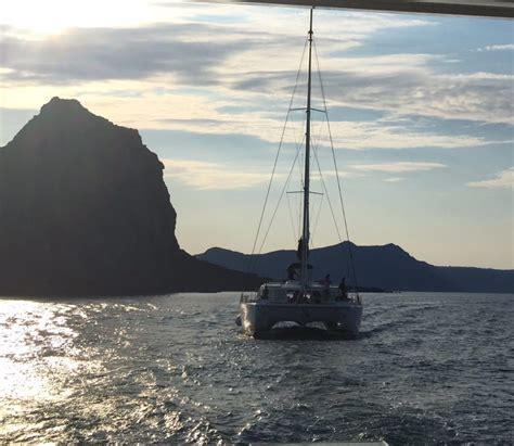 Catamaran Cruise Santorini Sunset by My First Visit To Greece Sea Worthy Adventures In