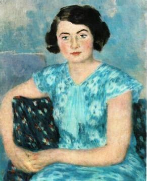 Portrait Of A.a. Saltykova Artwork By Vladimir Lebedev Oil ...