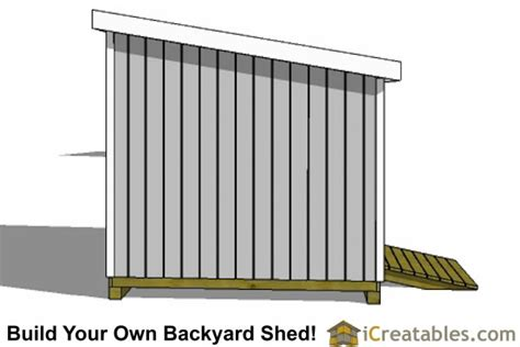 10x24 lean to shed plans icreatables com