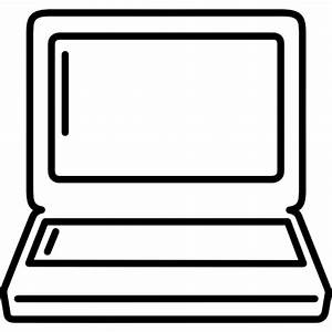 Laptop outline - Free computer icons