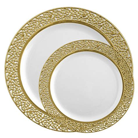 plates plastic dinner lace disposable dinnerware posh combo setting includes china pack sets salad fancy