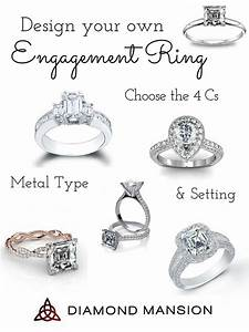 Design your own engagement ring with diamond mansion for Customize your wedding ring