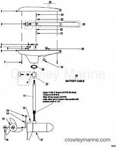 Complete Trolling Motor Model Gwb43    Gwt43   12 Volt