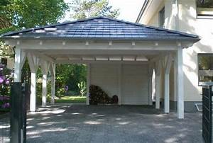 Carport Vor Garage : wooden carport two cars driveway car parking ideas home improvement contractors pinterest ~ Sanjose-hotels-ca.com Haus und Dekorationen