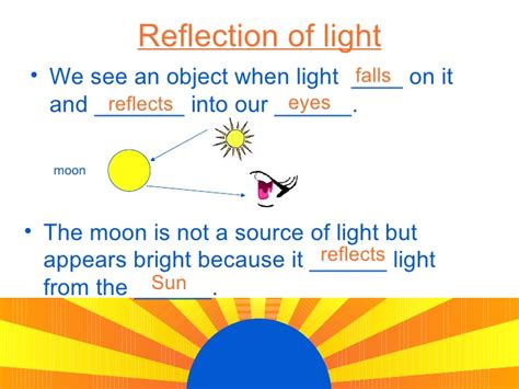 the light source light energy sources and reflection