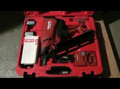 hilti gx  wf framing nail gun review youtube