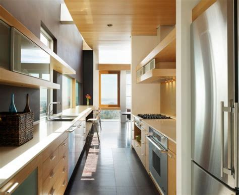 ideas for narrow kitchens form and function in a galley kitchen