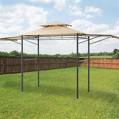 grill gazebo canopy garden winds adjustable awning grill gazebo replacement