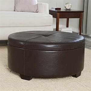 Belham living corbett coffee table storage ottoman round for Ottoman coffee table with storage