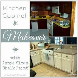 kitchen cabinet makeover annie sloan chalk paint artsy With kitchen colors with white cabinets with how to get stickers made