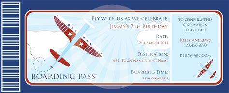 boarding pass airplanes invitation diy printable  baby