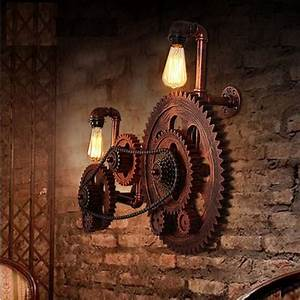 Lampen Loft Style : loft style industrial creative wood gear vintage wall light for home antique industrial ~ Sanjose-hotels-ca.com Haus und Dekorationen