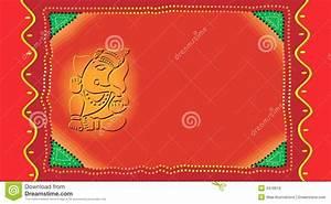 ganesh on invitation card stock vector illustration of With wedding invitation templates with ganesh