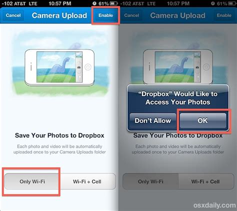 how to upload photos to dropbox from iphone back up iphone photos automatically to dropbox