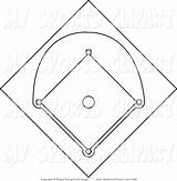 Baseball Diamond Field Coloring Clipart Printable Clipground sketch template