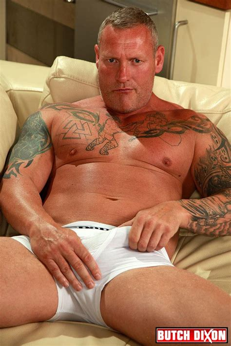 British Muscle Daddy Jerking Off His Big 9 Uncut Cock