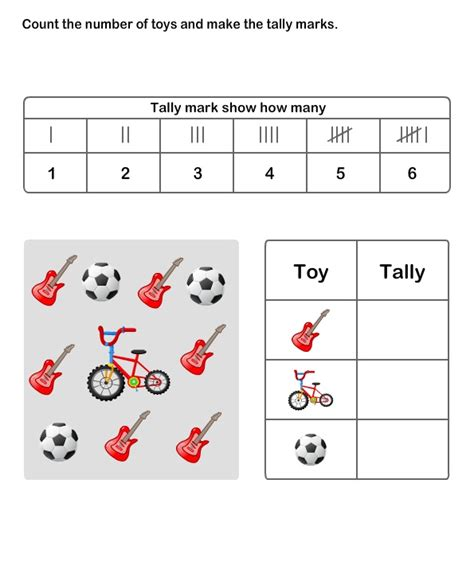 tally graph worksheets for 2nd grade math worksheets grade 2 worksheets tally chart