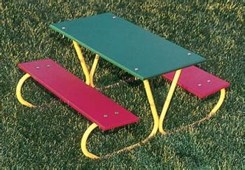 ultraplay 46 quot preschool picnic table multi color planks 447 | m p357 mc preschool outdoor picnic table