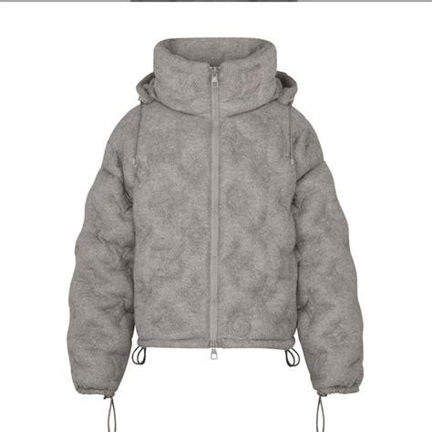 louis vuitton monogram boyhood puffer jacket  grey lv repgod