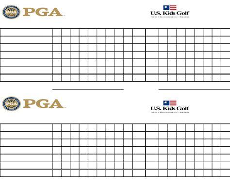 golf scorecard template exle excel golf scorecard for free formtemplate