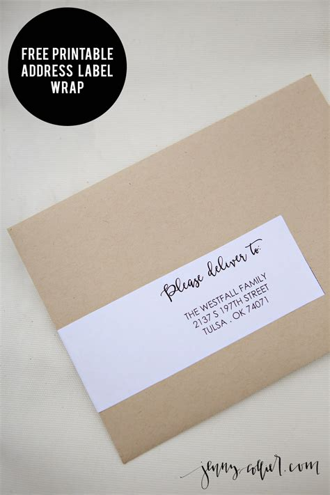 address label wrap printable jenny collier blog