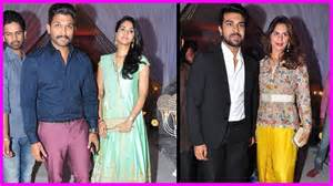 wedding reception songs mega family aswini dutt wedding reception ramcharan allu arjun