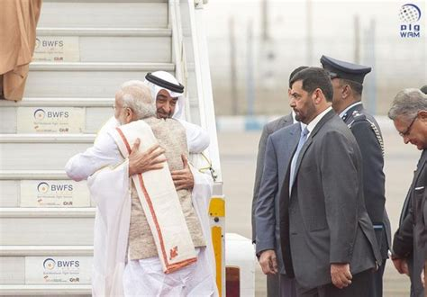 Mohamed Bin Zayed Arrives In India