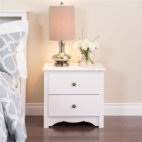 Bed With White Nightstands by White 2 Drawer Stand Wdc 2422