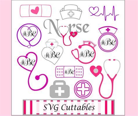 nurses svg cutting files monogram frame svgs nursing svg