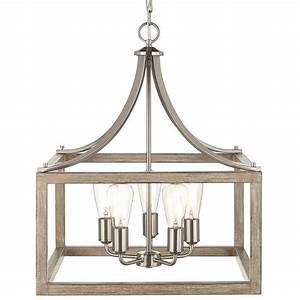 Home Decorators Collection 5-Light Brushed Nickel Pendant