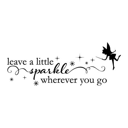 fairy leave   sparkle wall quotes decal wallquotescom