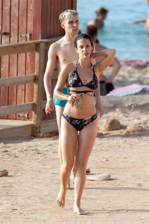 maria pedraza  bikini   beach  ibiza celeb donut