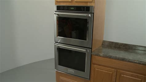 kitchenaid electric double wall oven installation model kodeess youtube