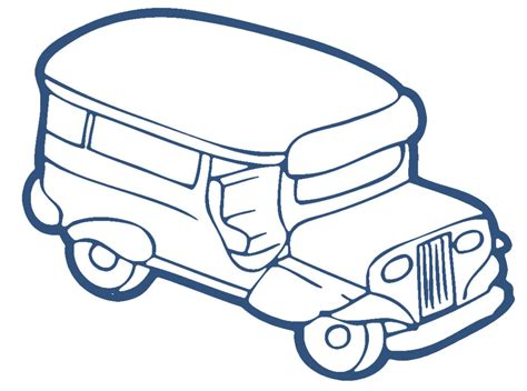 jeep philippines drawing jeepney clipart clipart kid jeepney coloring page in