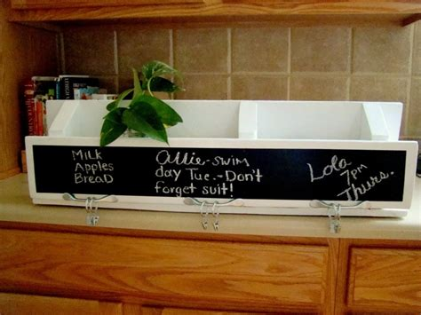 Kitchen Organizer Chalkboard picture of diy chalkboard kitchen organizer