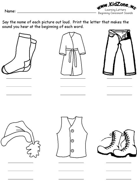 Beginning Consonants Review Worksheets