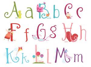 Cute Girly Font Alphabet Letters
