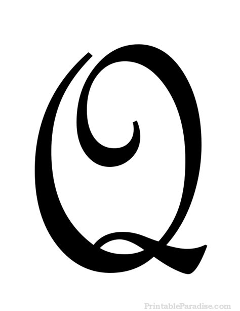 Q In Cursive Printable Letter Q In Cursive Writing Q